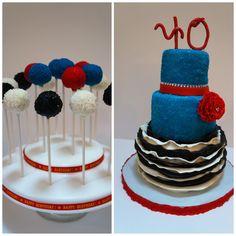 40th birthday celebration - Modeling chocolate ruffles