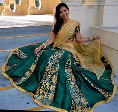 Elegance with Dignity | Dancing Gopi Skirt Outfits