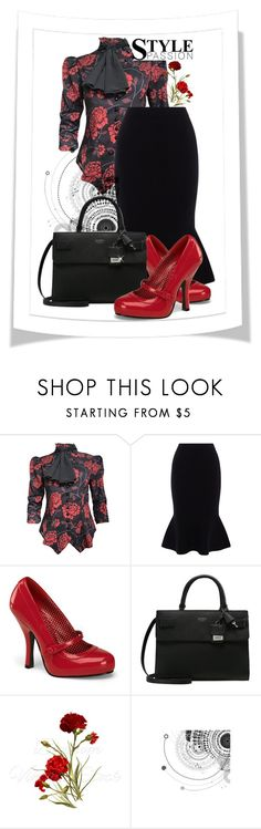 """""""Ruffled"""" by mzcouture ❤ liked on Polyvore featuring Karen Millen, Pinup Couture, GUESS, ruffles and RuffLyfe"""