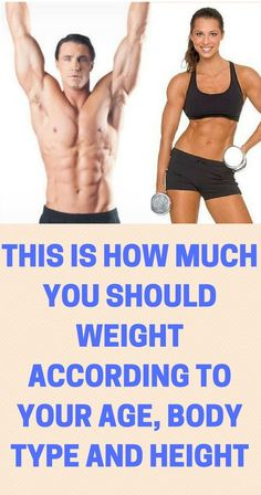 HERE IS HOW MUCH YOU SHOULD WEIGH ACCORDING TO YOUR HEIGHT, AGE AND BODY TYPE!