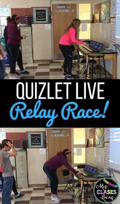 Inside: get your students moving with Quizlet Live relay races in any class Classroom Games, Science Classroom, Teaching Science, Classroom Management, Classroom Ideas, Google Classroom, Learn Science, Classroom Teacher, Science Experiments