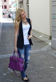 Discover and organize outfit ideas for your clothes. Decide your daily outfit with your wardrobe clothes, and discover the most inspiring personal style Blazer Outfits, Fall Outfits, Casual Outfits, Cute Outfits, Look Fashion, Girl Fashion, Fashion Outfits, Womens Fashion, Outing Outfit