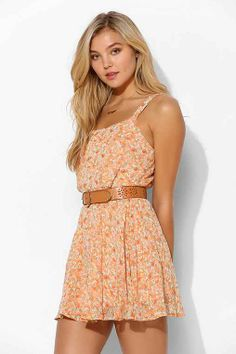 Lucca Couture Chiffon Daisy Dress - Urban Outfitters. If this dress were about a foot longer I'd be tempted to buy it.