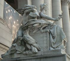 (NYC - p.mc.n.) Daniel Chester French: America..{ just learned he was born just a bit up the road in Exeter N.H., and his work is amazing}