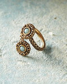Sarah Cavender Antiqued Brass Wrap Ring
