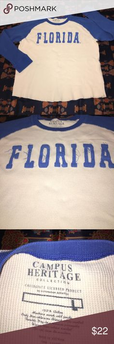"Florida Gators Thermal Great condition, used not abused, no stains, odors, rips or tears.  Measurements: -Width (Underarm to underarm): 24"" -Length (Collar to bottom hem): 25"" -Shoulder to shoulder: 25"" I ship super fast 100% guaranteed. Thanks for viewing my listing. Campus Heritage Sweaters Crewneck"