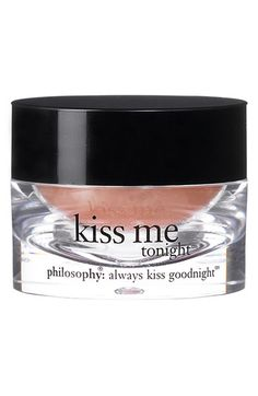 philosophy 'kiss me tonight' intense lip therapy from Nordstrom. Saved to Make-Up💋💄. All Things Beauty, Beauty Make Up, Hair Beauty, Beauty Secrets, Beauty Hacks, Beauty Products, Beauty Tips, Beauty Care, Body Products