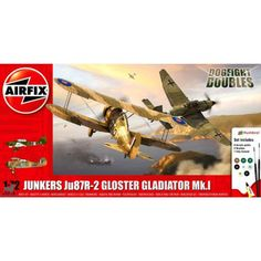 Maquette 1/72 - Junker Ju87R-2 Stuka et Gloster Gladiator Mk.I- AIRFIX