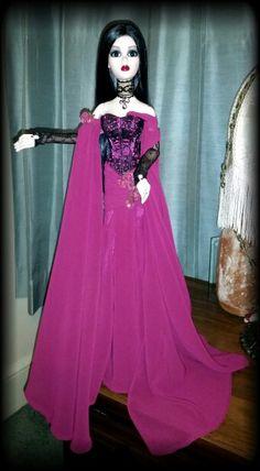 Evangeline Ghastly Mourning Mist ~ in Midnight Waltz gown and Monique Gold Paris wig.
