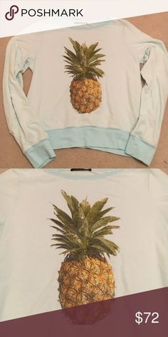 Wildfox RARE Pineapple Crown Sweatshirt Top Small Extremely rare Wildfox piece, NWT Wildfox Tops