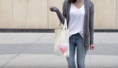 VIDEOnávod: Plátená DIY taška s bodkovaným srdcom