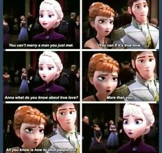Its sad because through the whole movie elsa was really the only one who truly knew what true love is.(her love for anna)