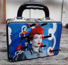 """I Love Lucy COLLECTABLE Tin Lunch Box  7"""" x 5"""" x 3""""    EXCELLENT CONDITION!! Lunch Box Thermos, Tin Lunch Boxes, I Love Lucy, Love Her, Shes Amazing, Lucille Ball, Lol, Actors, Friends"""
