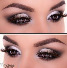 for this look keep adding the white in the middle and in the tear duct to create a brighter more open look