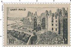 France Stamp - Saint-Malo, ville martyre (1945)