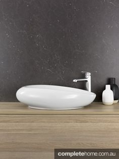 Caroma's new inspiring range will make the basin the focal point for any residential or commercial bathroom space Modern Bathroom Design, Natural Texture, Shibori, Wood Grain, Basin, Interior Decorating, House Ideas, Showroom, Inspiration