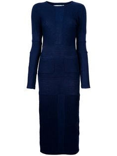 Henrik Vibskov Rib Knit Blue Dress