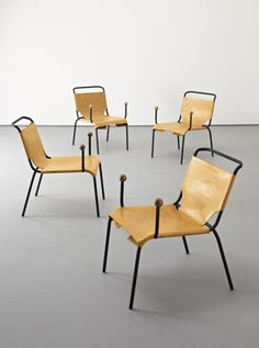 View Bola chairs set of 4 by Lina Bo Bardi on artnet. Browse upcoming and past auction lots by Lina Bo Bardi. Simple Furniture, Deco Furniture, Design Furniture, Chair Design, Leather Bean Bag Chair, Leather Chairs, Chaise Chair, Compact Table And Chairs, High Back Chairs
