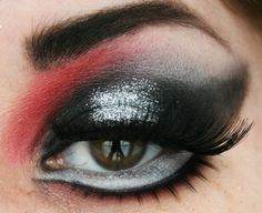 Red, black and silver glitter.