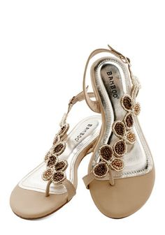 Bead of a Different Drummer Sandal in Sand - Tan, Solid, Beads, Daytime Party, Luxe, Summer, Good, Variation, Flat, Faux Leather