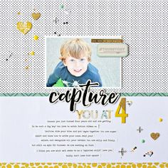 It is such fun to see the versatility of the new Maggie Holmes Gather and Pinkfresh Indigo Hills lines. captures her (then) son in this amazing layout. Scrapbook Cover, Love Scrapbook, Scrapbook Titles, Birthday Scrapbook, Vintage Scrapbook, Scrapbook Paper Crafts, Scrapbooking Layouts, Scrapbook Organization, Scrapbook Supplies