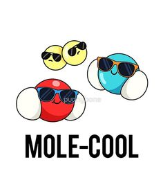 'Mole-cool Chemistry Science Pun' Sticker by punnybone Chemistry Puns, Science Puns, Science Room, Science Art, Cute Jokes, Cute Puns, Mole Day, Science Doodles, Punny Puns
