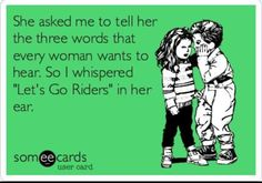 "Free and Funny Sports Ecard: She asked me to tell her the three words every girl wants to hear so I whispered ""I play Lacrosse"" in her ear. Create and send your own custom Sports ecard. Someecards, Go Rider, Sexy Coffee, Coffee Coffee, Coffee Time, Coffee Shop, College Football Season, College Football Quotes, Football Stuff"