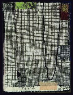 Dorothy Caldwell, Map of Tenderness, 2011, wax resist and silkscreen discharge on cotton with stitching and appliqué,