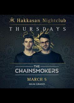 Chainsmokers at Hakkasan Nightclub