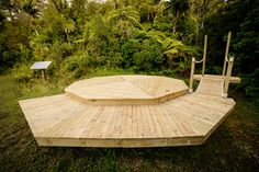 Finished Lotus Belle Platform with Swing Bridge to Ensuite. Photo credit Living Big in a Tiny House