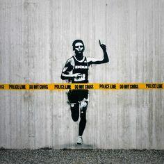 Banksky? graffiti stencil