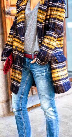 Stylish Plaid Warm Blazer
