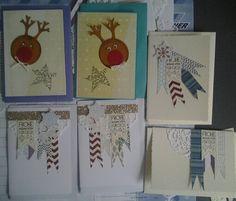 Weihnachtskarten kreuz & quer mit Stampinup  & Anderen creativ by maro
