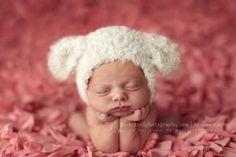 Schattig babymutsje lammetje