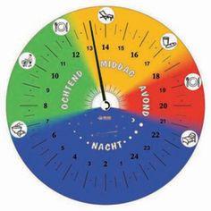 24 uur klok met kleuren online kopen bij Eelke Verschuur