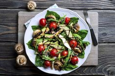 Gerichte zum Abnehmen: Spinatsalat mit Huhn