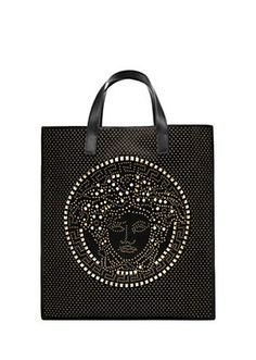 Palazzo canvas tote from Versace Men's Collection. Bring some soft sophistication to your wardrobe with this light and luxurious everyday tote. Versace Fashion, Versace Men, Crossbody Bag, Tote Bag, Shopper Bag, Men's Collection, Palazzo, Handbags, Purses