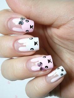gold leaf nails #gold #nails #polish « Your Nail Art