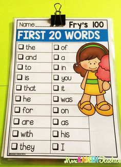 Free sight word checklists .                                                                                                                                                     More
