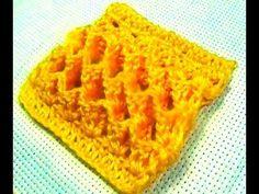 Ponto de crochê 3 D ou Tridimensional ideal  para mantas e tapetes - PON...