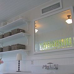 Bathroom Open Shelves Design, Pictures, Remodel, Decor and Ideas - page 4 - love schoolhouse lights