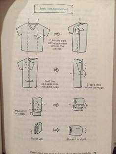 KonMari Basic folding method! Make a rectangle, and store upright.
