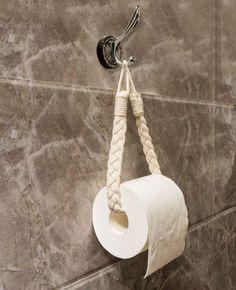 Macrame String Holder - Handmade Toilet Paper Roll or Curtain Holder - A .- Macrame String Holder – handgemachte Toilettenpapierrolle oder Vorhanghalter – A… Macrame String Holder – Handmade … - Macrame Art, Macrame Design, Macrame Projects, Macrame Knots, Macrame Mirror, Macrame Modern, Macrame Plant Hangers, Handmade Home Decor, Diy Home Decor