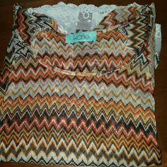 Karlie Top Zig zag karlie top/with cut out shoulders/lace trim  SIZE S Excellent condition worn once Karlie Tops Blouses
