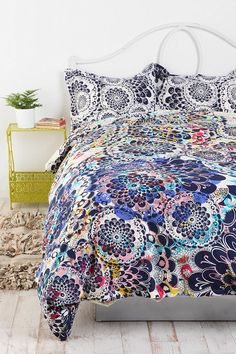 Kaleidoscope Burst Percale Cotton Duvet Cover from Urban Outfitters
