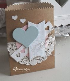 2 simple Valentine's Day gift wrapping ideas - The House That Lars Built Paper Gift Bags, Paper Gifts, Creative Gift Wrapping, Creative Gifts, Craft Bags, Craft Gifts, Valentine Day Cards, Valentines, Gift Wraping