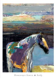 Tangletown Fine Art Buddy by Dominique Samyn Fine Art Giclee Print on Gallery Wrap Canvas, 35 Painted Horses, Art Mural, Wall Art, Canadian Art, Painting Edges, Horse Art, Stretched Canvas Prints, Animal Drawings, Drawing Animals