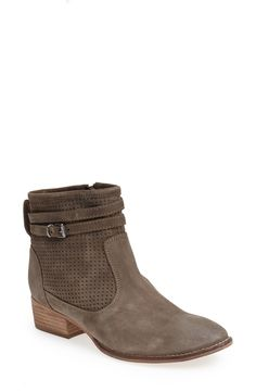 Pairing these perforated booties with jeans and cute tee!