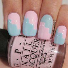 Instagram photo by nailsbynikkih  #nail #nails #nailart Simple Nail Art Designs, Best Nail Art Designs, Easy Nail Art, Cool Nail Art, Love Nails, How To Do Nails, Fun Nails, Pretty Nails, Manicure Y Pedicure