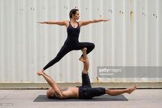 View top-quality stock photos of Couple Practicing Acroyoga. Find premium, high-resolution stock photography at Getty Images. Acro, Photoshoot Ideas, Exercise, Stock Photos, Activities, Running, Couple Photos, Couples, Sports